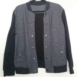 Marc Anthony - Black Gray Bomber University Jacket